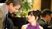 Zooey's signature bangs make this updo ultra-romantic. So very Audrey Hepburn!