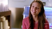 Melissa Benoist's cozy sweater matched her rosy cheeks.