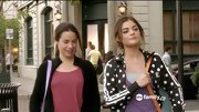 A whimsical polka dot track jacket was a playful workout choice for Lucy Hale on 'Pretty Little Liars.'
