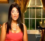 Kathy Wakile's summery pastel necklace matched her pearly pink eyeshadow on 'The Real Housewives of New Jersey.'