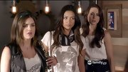 A faded graphic T-shirt and tied scarf gave Shay Mitchell an on-trend, yet approachable look on 'Pretty Little Liars.'