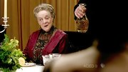 It's just Maggie Smith in the fanciest dress of the episode, no big deal.