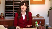 Zooey Deschanel could have passed for a museum guide on 'New Girl' in this classic red blazer.