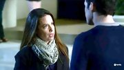 A gauzy print scarf is the perfect way to jazz up a dark coat, as evidenced by Holly Marie Combs on 'Pretty Little Liars.'