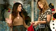 Shenae Grimes showed a tasteful amount of skin in this cold-shoulder keyhole top.