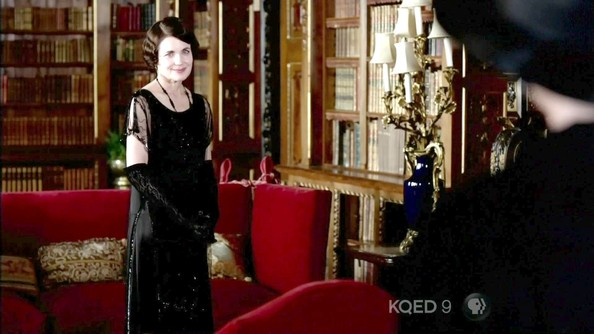 Elizabeth McGovern Beaded Dress