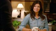 Everyone should have a classic chambray top like Casey Wilson's in their closet.