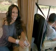 Melissa Gorga accented her slouchy top with a bold Wonder Woman-esque cuff.