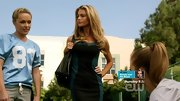 Denise Richards showed off her curves in this flattering color-blocked bodycon dress on '90210.'