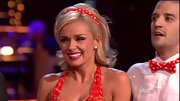 Sure Katherine Jenkins' matchy-matchy polka-dotted headband might be a bit much for day to day life, but this is 'DWTS' after all.