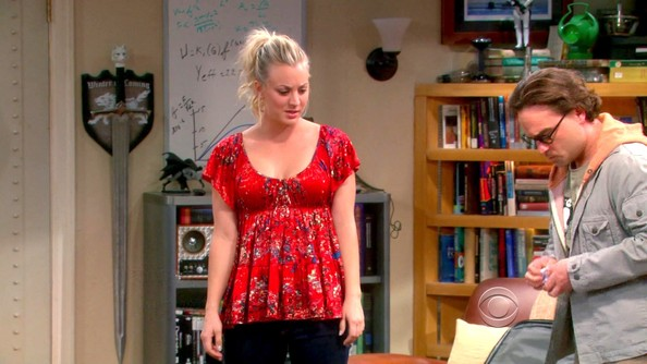 Kaley Cuoco Print Blouse