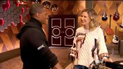 Jennifer Nettles had a cozy Southwestern vibe in this oversize fisherman's sweater.