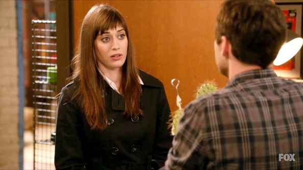 Lizzy Caplan Long Straight Cut with Bangs