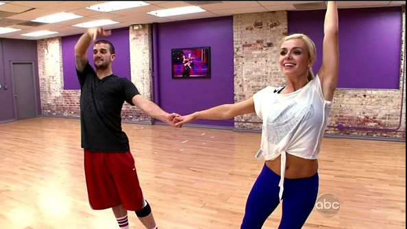With abs like those, it's a wonder Katherine Jenkins doesn't wear crop tops more often.