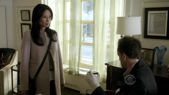 Lucy Liu Wool Coat