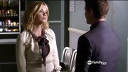 Ashley Benson kept it ladylike on 'Pretty Little Liars' in a classic tweed jacket and tie-neck blouse.