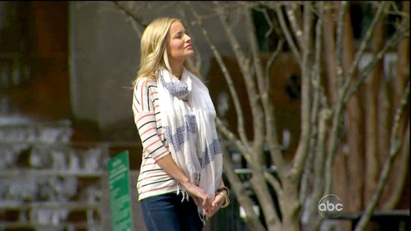 When in doubt, layer on a lovely pashmina like Emily Maynard's.