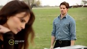 Josh Henderson fits right into 'Dallas' in his chambray button-down shirt.