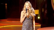 Elle Macpherson used a shimmering highlighter on the high points of her face to add extra dimension.