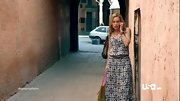 Piper Perabo looked effortless and summery in a relaxed print maxi dress on 'Covert Affairs.'