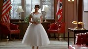 Lea Michele was a vision in her custom tea-length boatneck wedding dress. So very Audrey Hepburn!