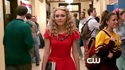 AnnaSophia Robb looked so chic roaming the halls of high school, especially in this red peplum top.
