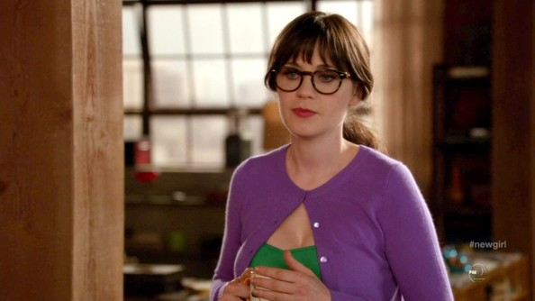 More Pics of Zooey Deschanel Cardigan (1 of 6) - Zooey Deschanel Lookbook - StyleBistro