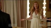 Connie Britton had a definite Greek goddess vibe in a cream pleated gown on 'Nashville.'