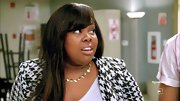 Amber Riley made her return to 'Glee,' ready for fall in this adorable houndstooth jacket.