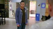 Jacob Artist brought his fresh face and style to 'Glee' wearing a striped hoodie.