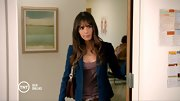 The gals on 'Dallas' love denim and Jordana Brewster was no exception in this tailored indigo blazer.