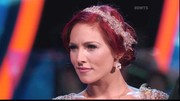 Pro-dancer Sharna Burgess completed her look with a sparkling headband.