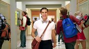 Darren Criss is way too stylish for a backpack, so he totes his books on 'Glee' in a leather messenger bag.