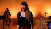 A black collared sweater gave Lea Michele a slightly sailor-inspired touch on 'Glee.'