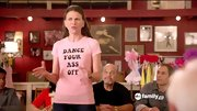 Sutton Foster definitely didn't beat around the bush on 'Bunheads' with this message T-shirt.