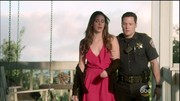 In her typical dramatic fashion, Charlotte (played by Christa B. Allen) caused a stir in a breezy, ruffle-front maxi dress, which she paired with a black BCBG Max Azria cardigan and matching lace-up booties.