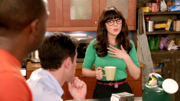 Zooey Deschanel Leather Belt
