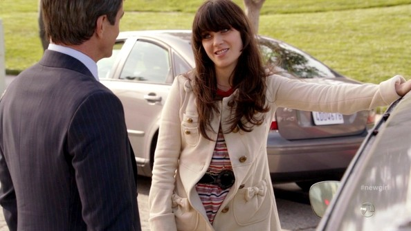 Zooey Deschanel Wool Coat