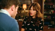 The 'New Girl' actress donned this whimsical sweater boasting appliqued bows on during the show's fourth season.