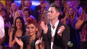 Nicole 'Snooki' Polizzi pulled her hair up during week 5 of 'Dancing With The Stars'.