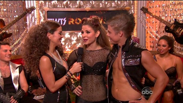 For Rock Week on 'DWTS,' Derek found a new way to show off his abs in this studded leather vest. And check out that mohawk!