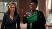 Loretta Devine dressed up her everyday look on 'The Client List' with this emerald green cowl neck.
