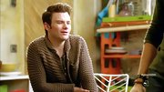 Chris Colfer opted for a classic sweater cardigan for his look on 'Glee.'