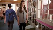 A gray button-down and slim pants gave Sutton Foster a decidedly unfussy look on 'Bunheads.'
