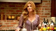 Connie Britton kept her style earthy on 'Nashville' in this patterned peasant blouse.