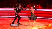 Cheryl Burke's dress fulfilled all the requirements for DWTS: glittery, swirly and revealing.