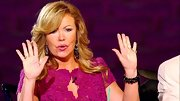 Mary Murphy accented a lace fuchsia dress with onyx drop earrings and matching bracelets on 'So You Think You Can Dance.'