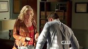 Mircea Monroe went country on 'Hart of Dixie' in a denim mini skirt and tan leather jacket.
