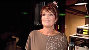 Sarah Palin showed her support for daughter Bristol on 'DWTS' in a beaded taupe top.