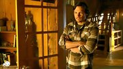 Nick Wechsler was getting serious in this black-and-white plaid button-down.